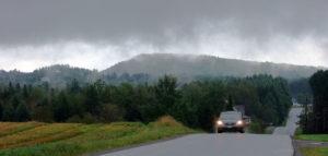 maine rural fog photo