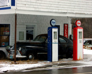 Maine car gassing up in yesterday setting