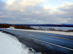 maine highway winter photo