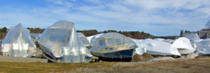 maine boats yarmouth shrink wrapped