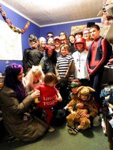 Big Groups Halloween Trick Or Treat