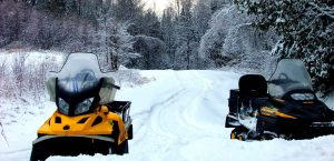 snowmobile-in-Maine