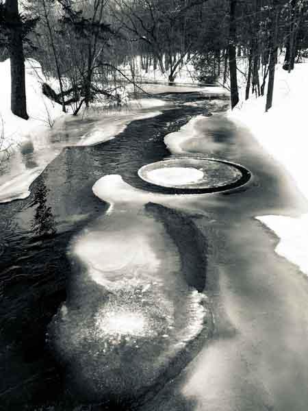 ice freezing in maine