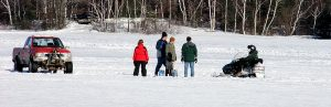 ice fishing maine image