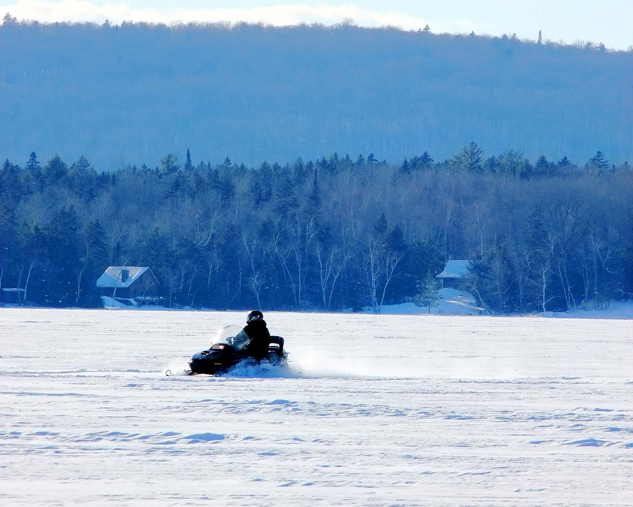 snow sledding ice fishing