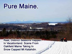 maine snow sledding katahdin