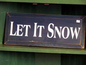 winter let it snow sign