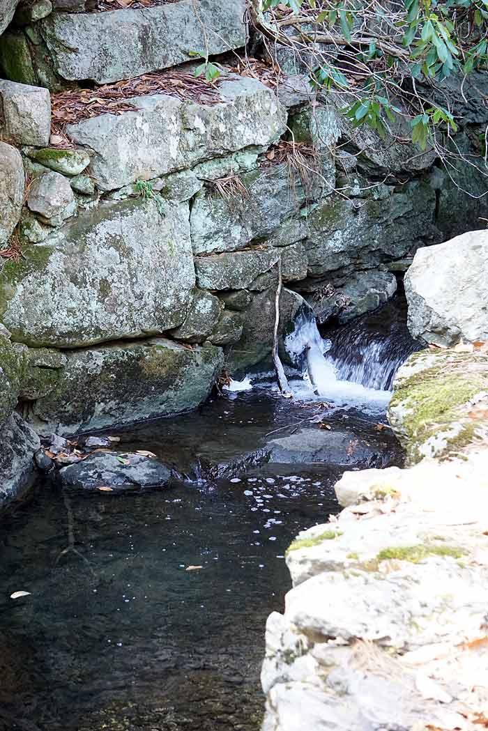 stream water falls aboretum