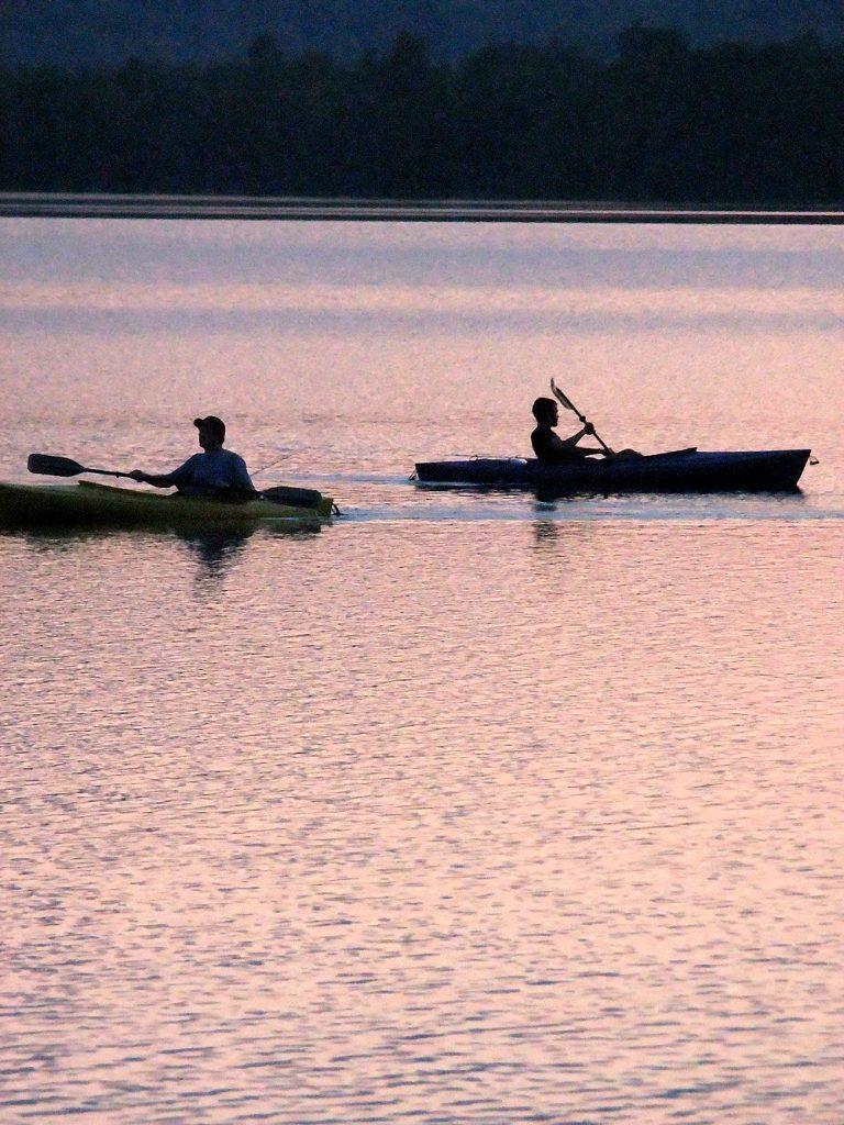 maine lake kayaking
