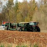 farm field potato harvest