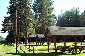 picnic rest areas in maine