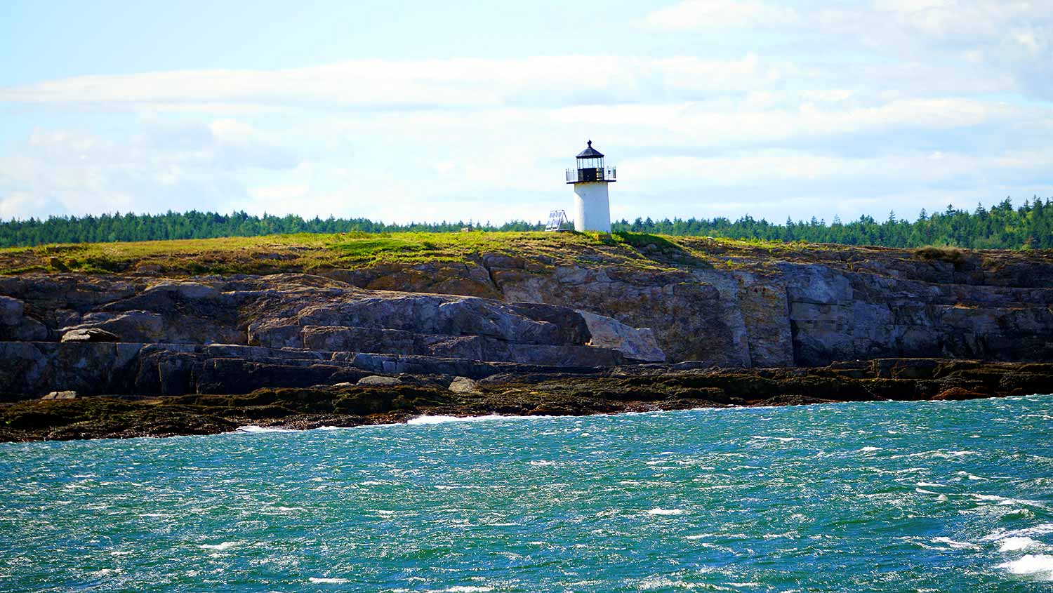 Pond Island Lighthouse In Maine