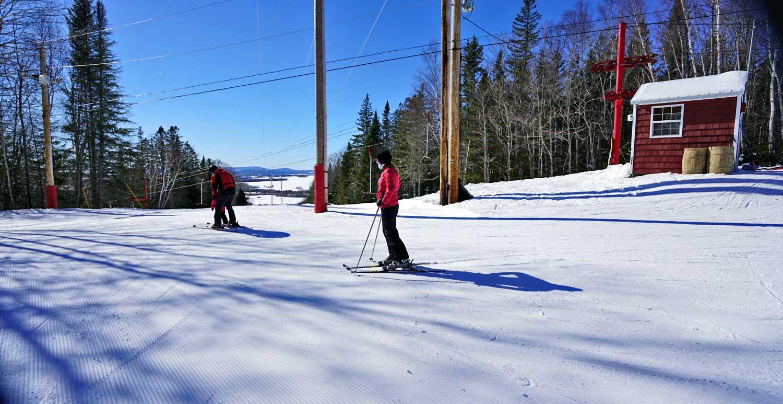 maine mountain downhill skiing