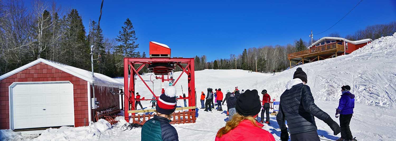 lift line small maine ski area