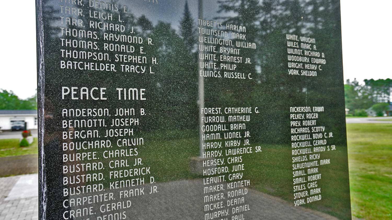 maine veterans memorial monuments