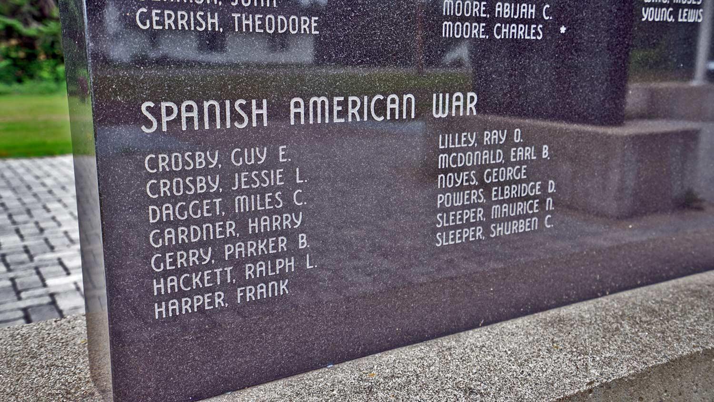 maine vertans memorials