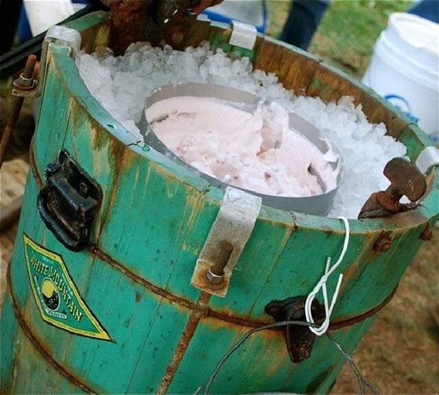 hand made ice cream maker
