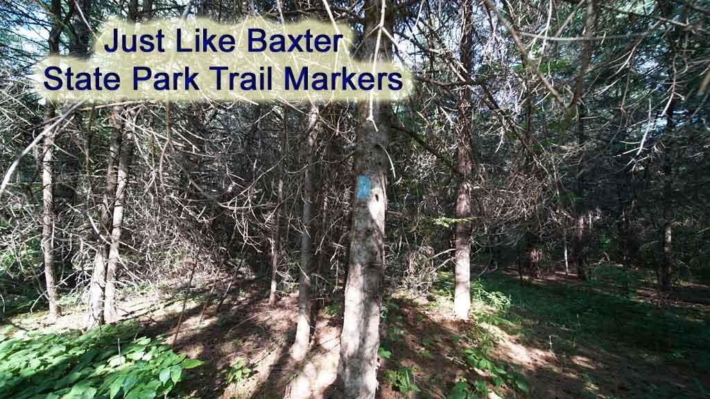 baxter park blue trail markers